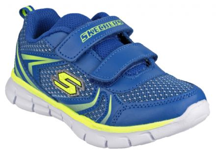 Skechers FOAMIES Velcro Trainers (Blue Yellow) 21 only!